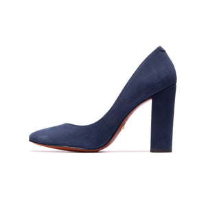 Hailey Navy Nubuck