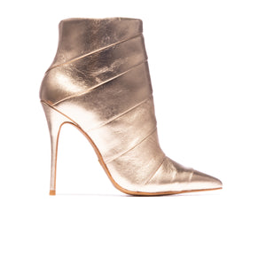 Adriana Light Gold Metallic Leather
