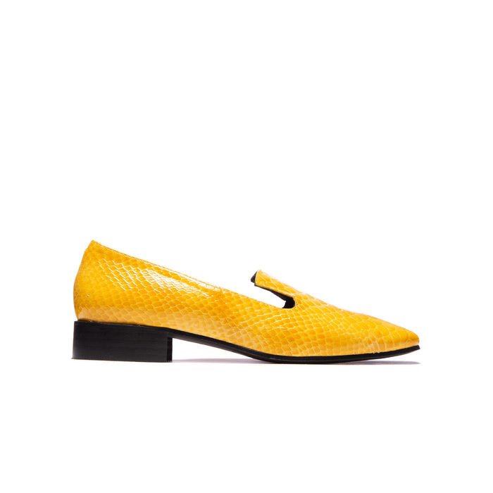 Leila Yellow Vintage Snake Leather