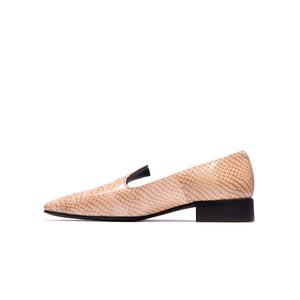 Leila Nude Vintage Snake Leather