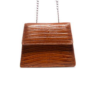 Kya Tan Lizard Leather Mini Bag