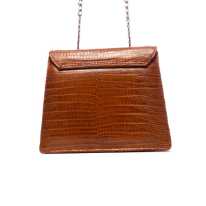 Load image into Gallery viewer, Kya Tan Lizard Leather Mini Bag