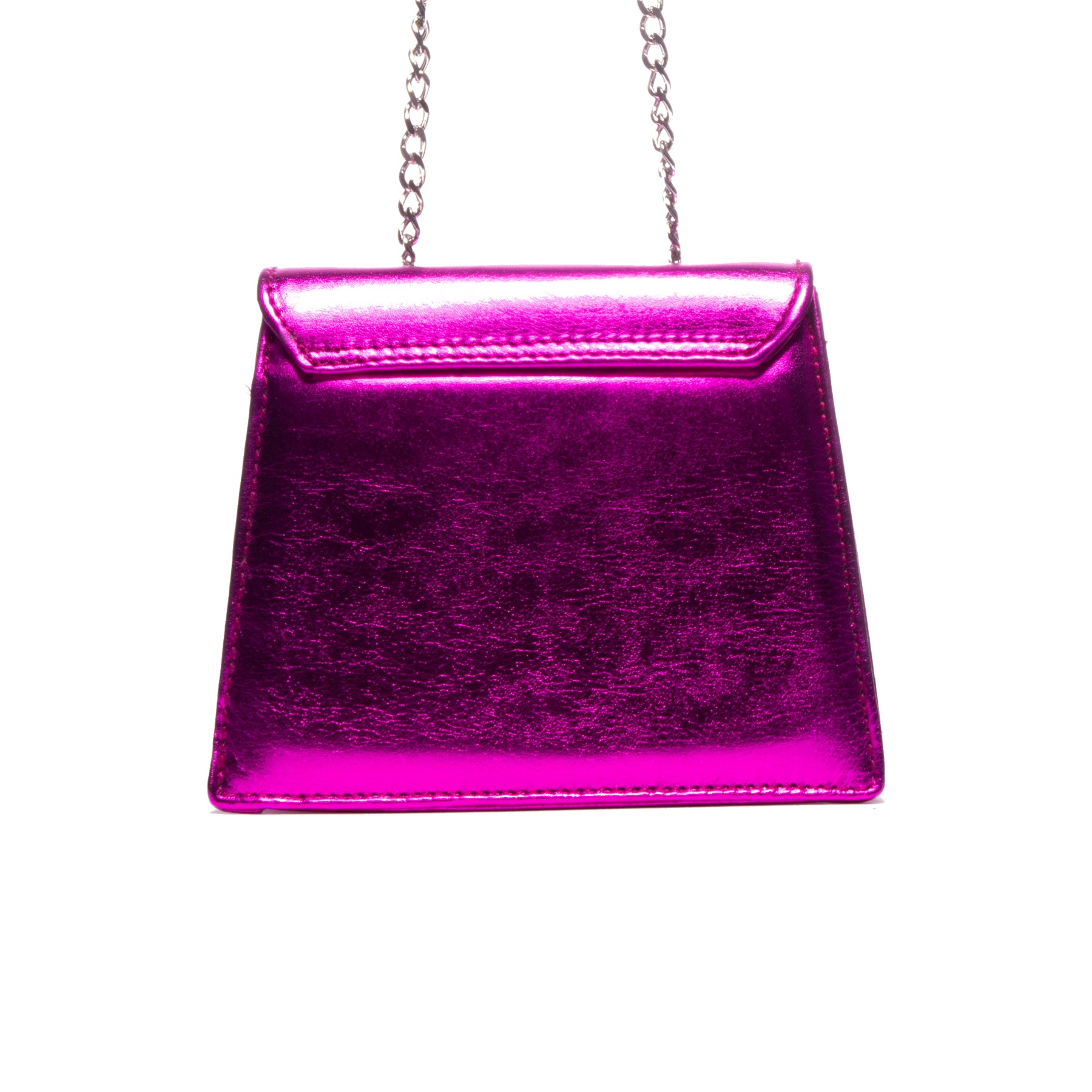 Kya Fushcia Metallic Leather Mini Bag