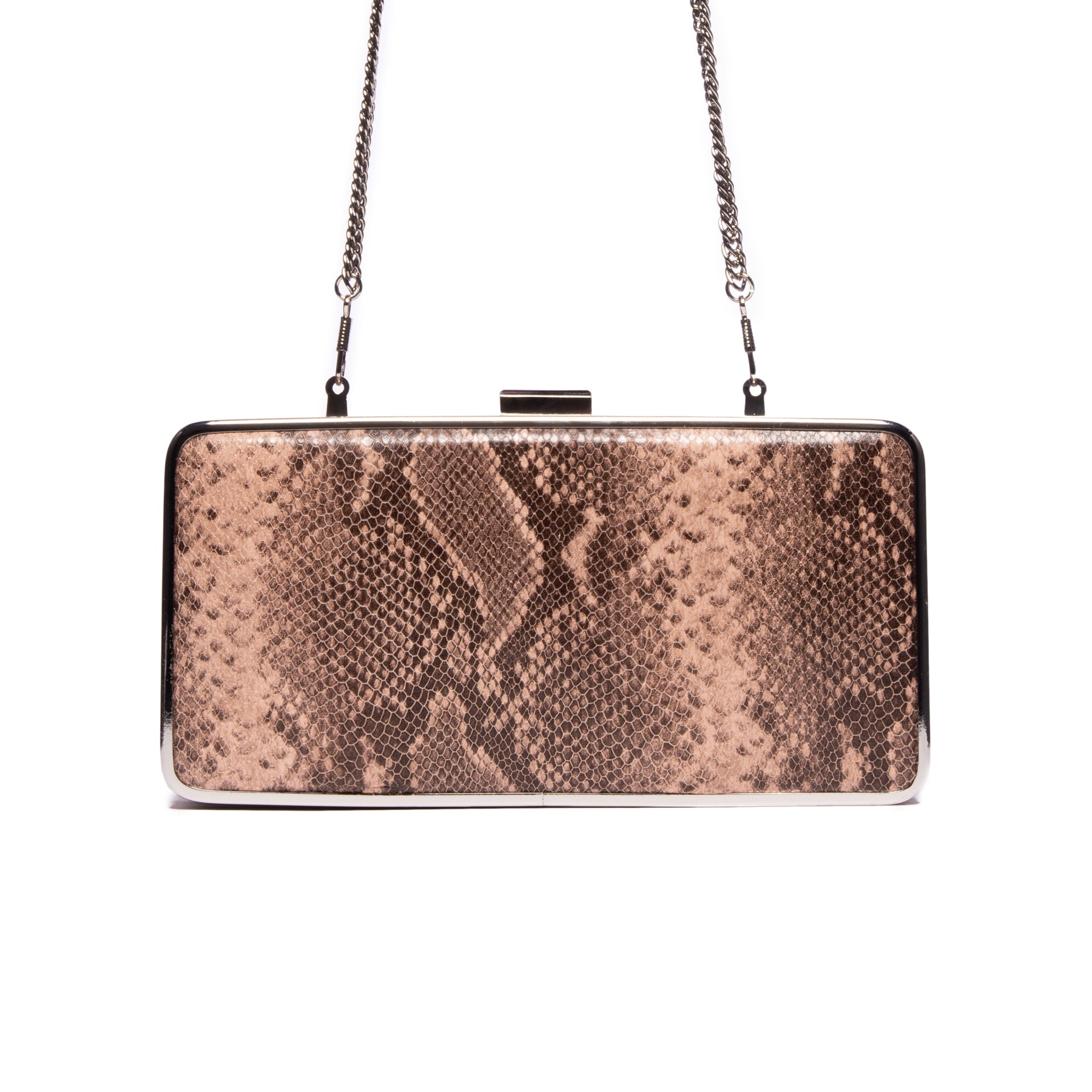 Theodore Natural Snake Leather Clutch