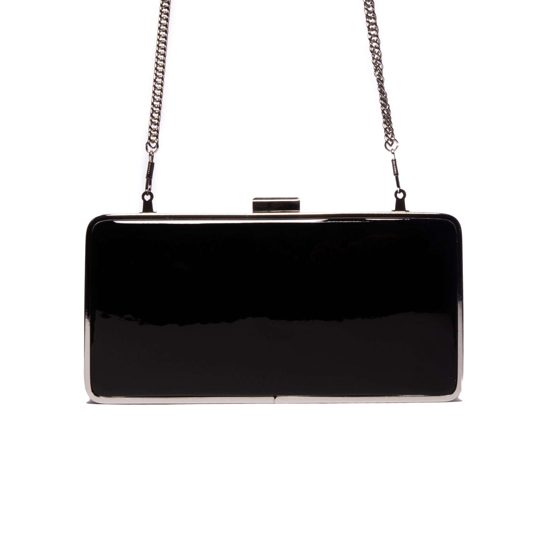 Theodore Black Patent Leather Clutch