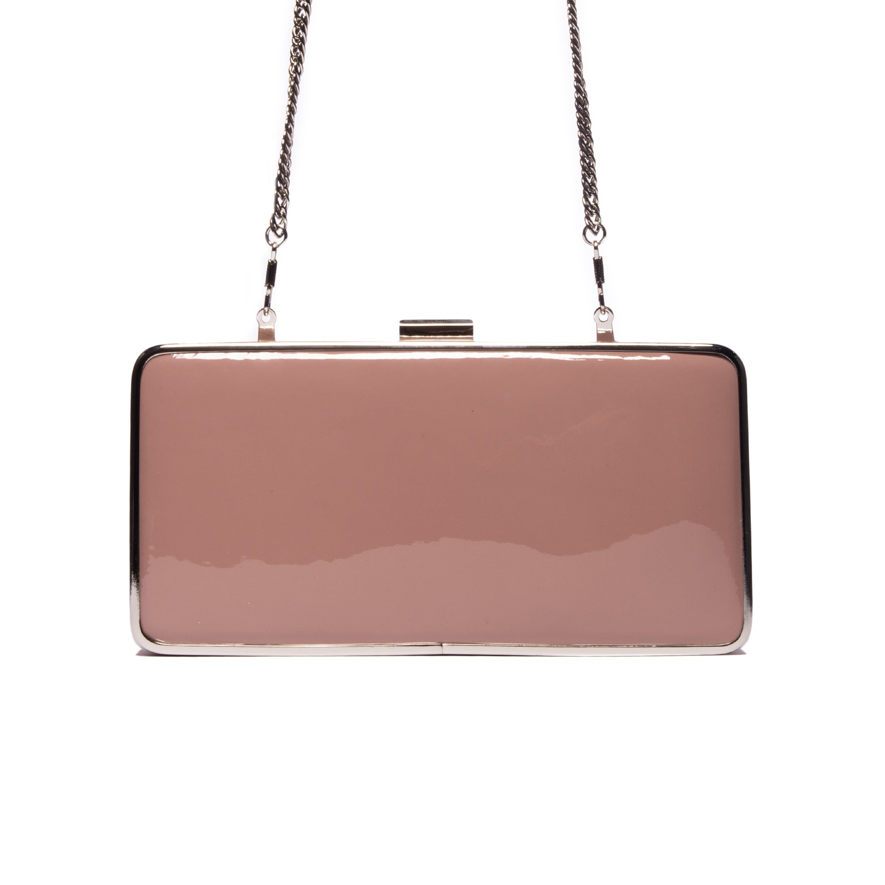 Theodore Nude Patent Leather Clutch