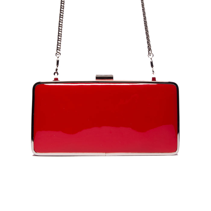 Theodore Red Patent Leather Clutch