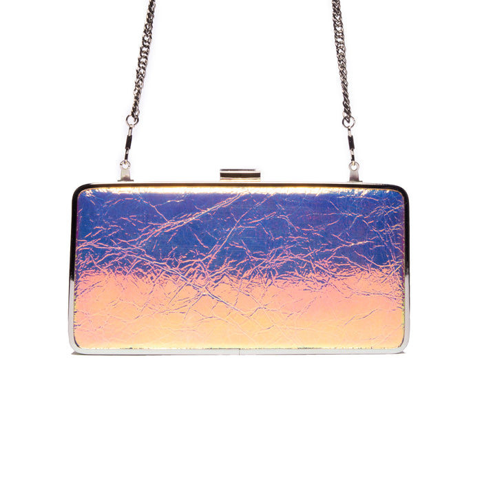 Theodore Sunrise Metallic Leather Clutch
