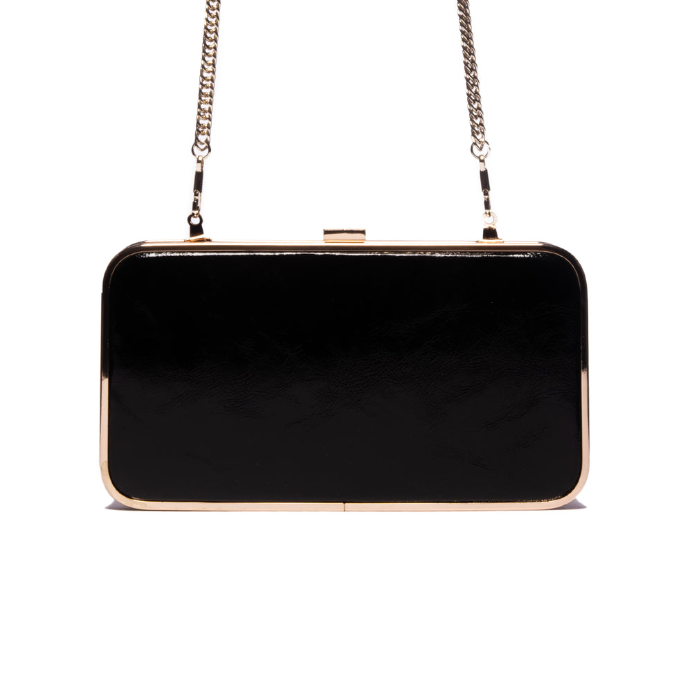 Load image into Gallery viewer, Thais Black Leather Clutch
