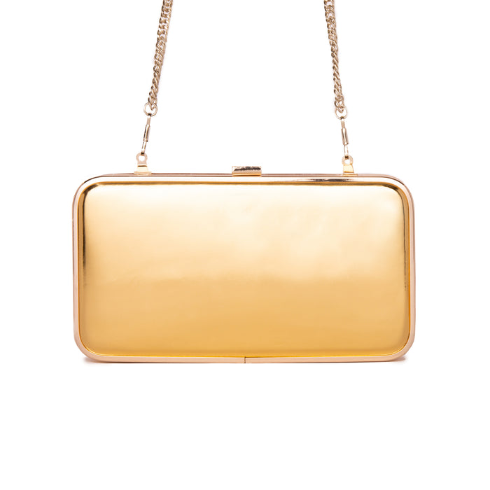 Thais Gold Mirror Clutch