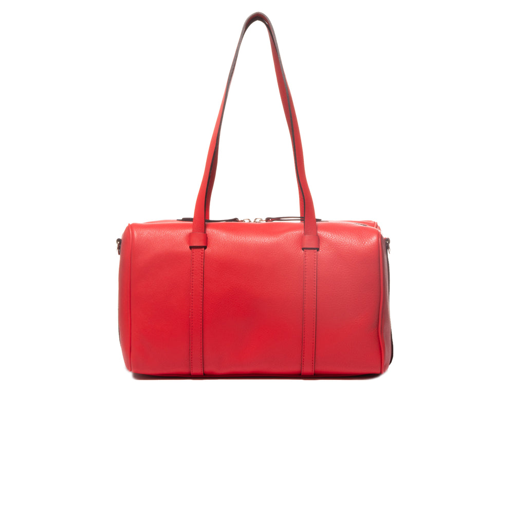 Leandre Red Leather Mini Duffle Bag
