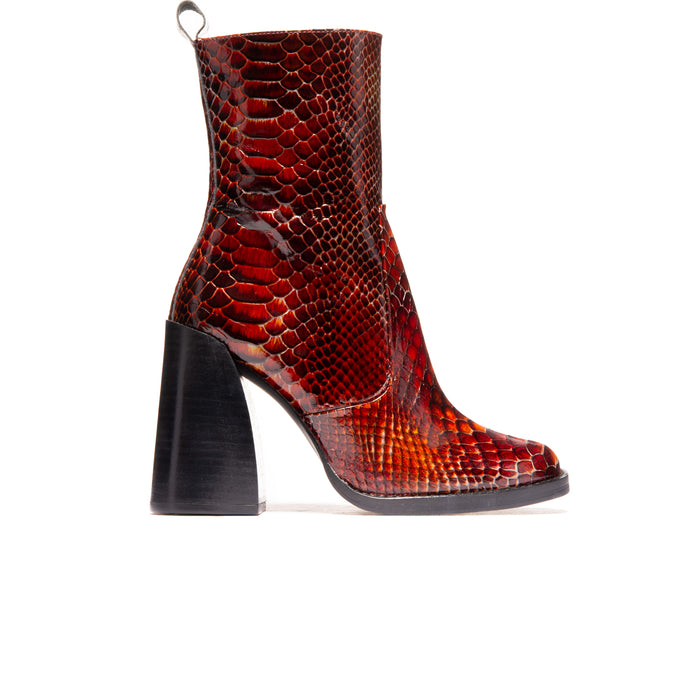 Kensington Red Snake Leather