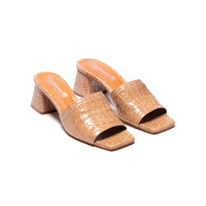 Kenya Camel Croco Leather