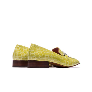 Marbella Lime Croco Leather