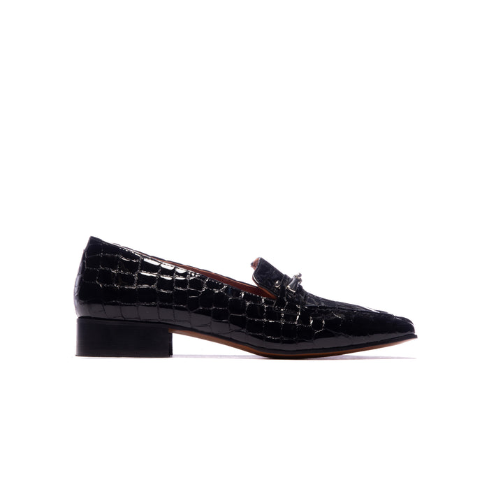 Marbella Black Croco Leather