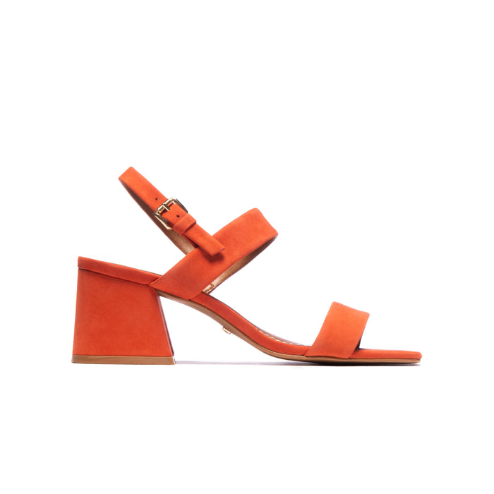 Calvina Orange Nubuck