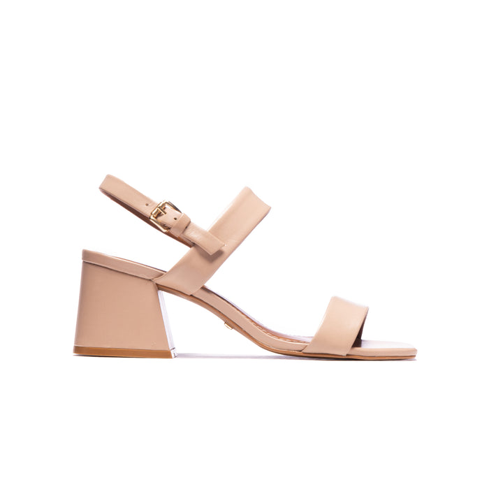 Calvina Nude Leather