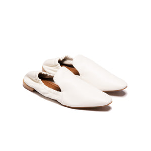 Tulip White Leather
