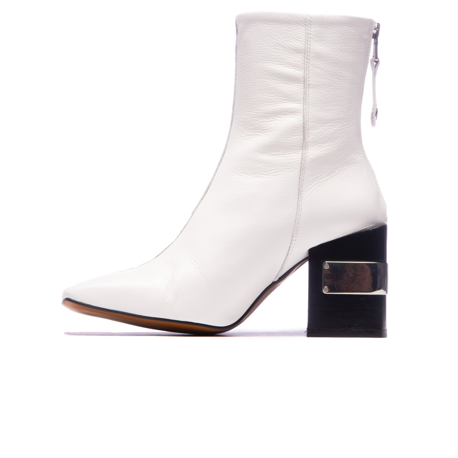Shay White Leather