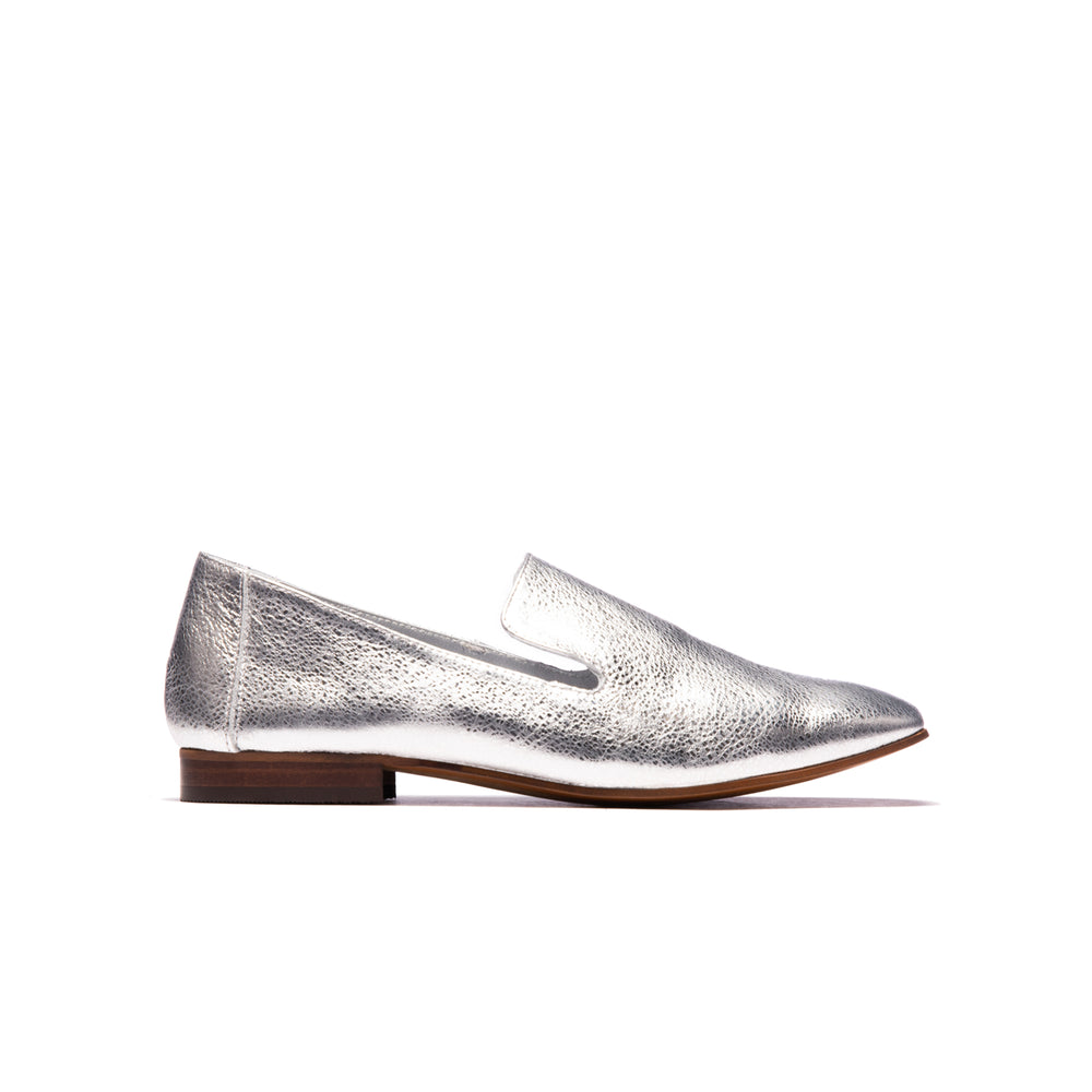 Lilit Silver Metallic Leather