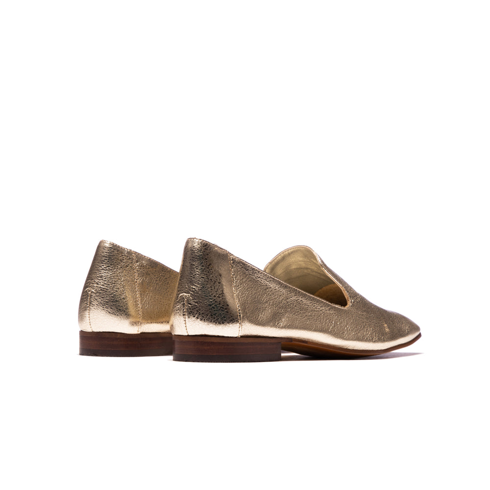 Lilit Champagne Metallic Leather