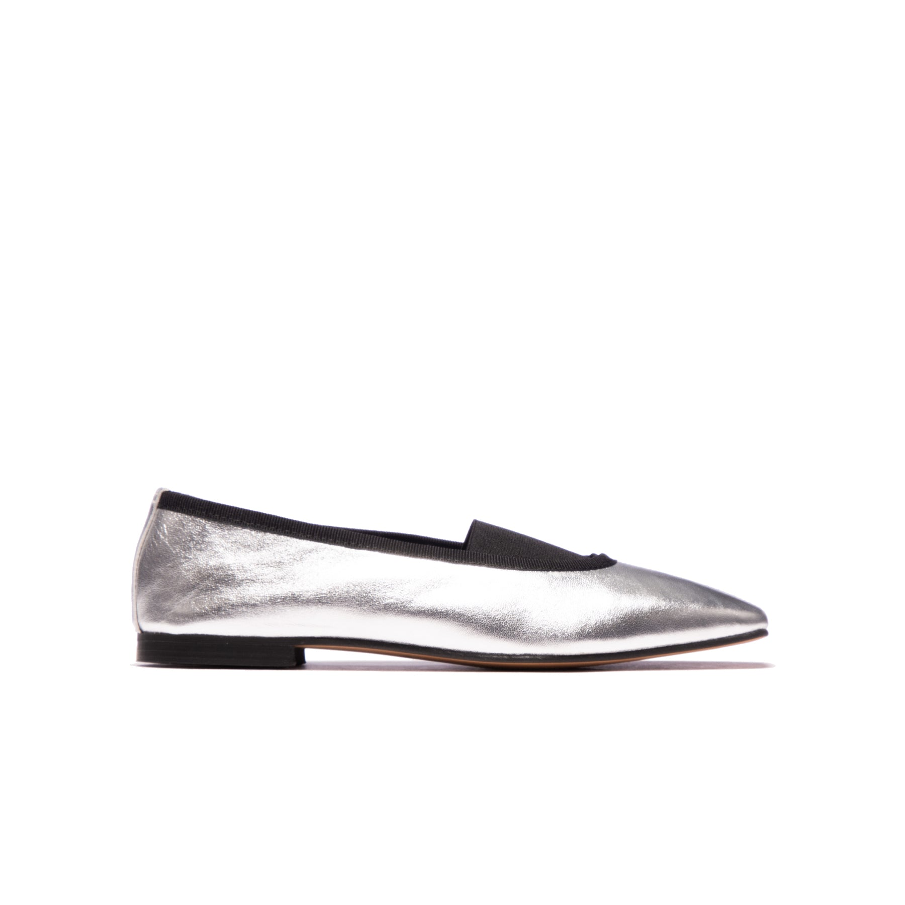 Claire Silver Metallic Leather