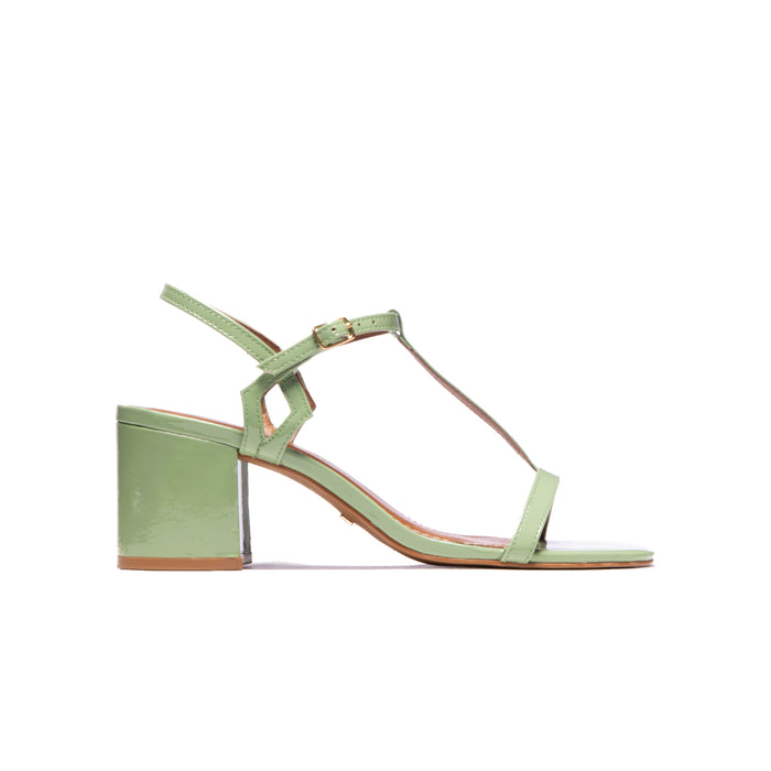 Carita Sage Patent Leather