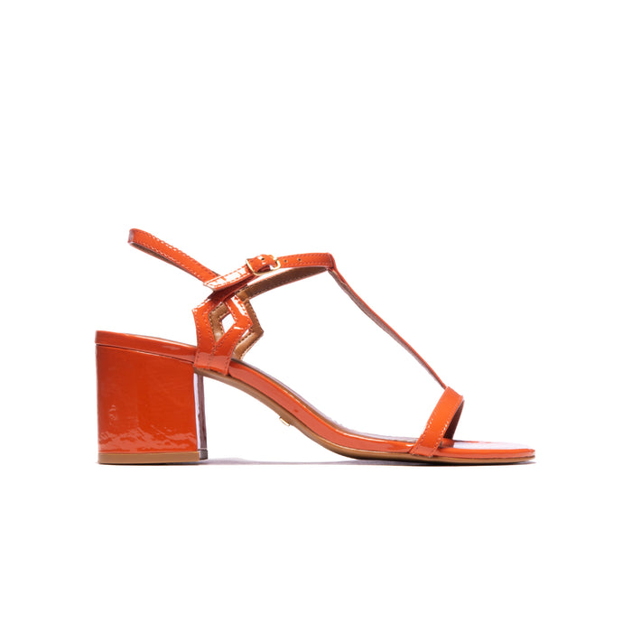 Carita Orange Patent Leather
