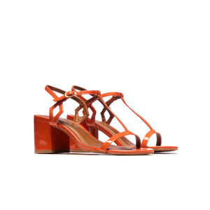 Load image into Gallery viewer, Carita Orange Patent Leather