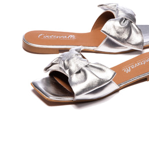 Ourania Silver Leather