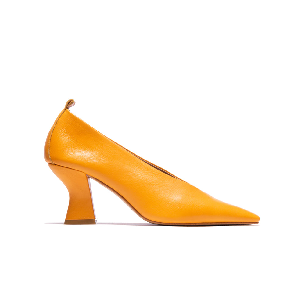 Philipa Orange Leather