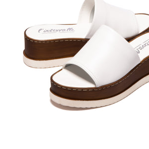 Cefalu White Leather
