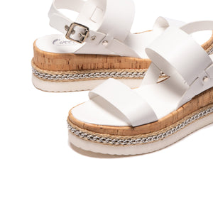 Soha White Leather