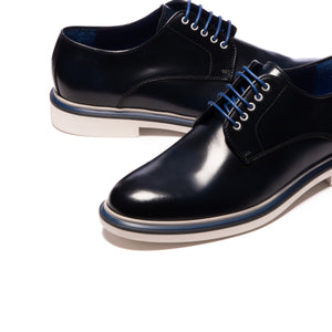 Oliver Navy Leather