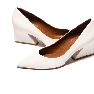 Enrica White Leather