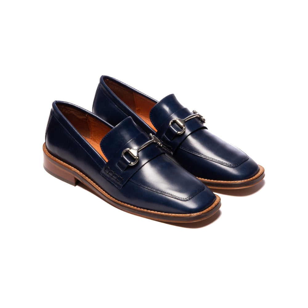 Load image into Gallery viewer, Margot Navy Leather