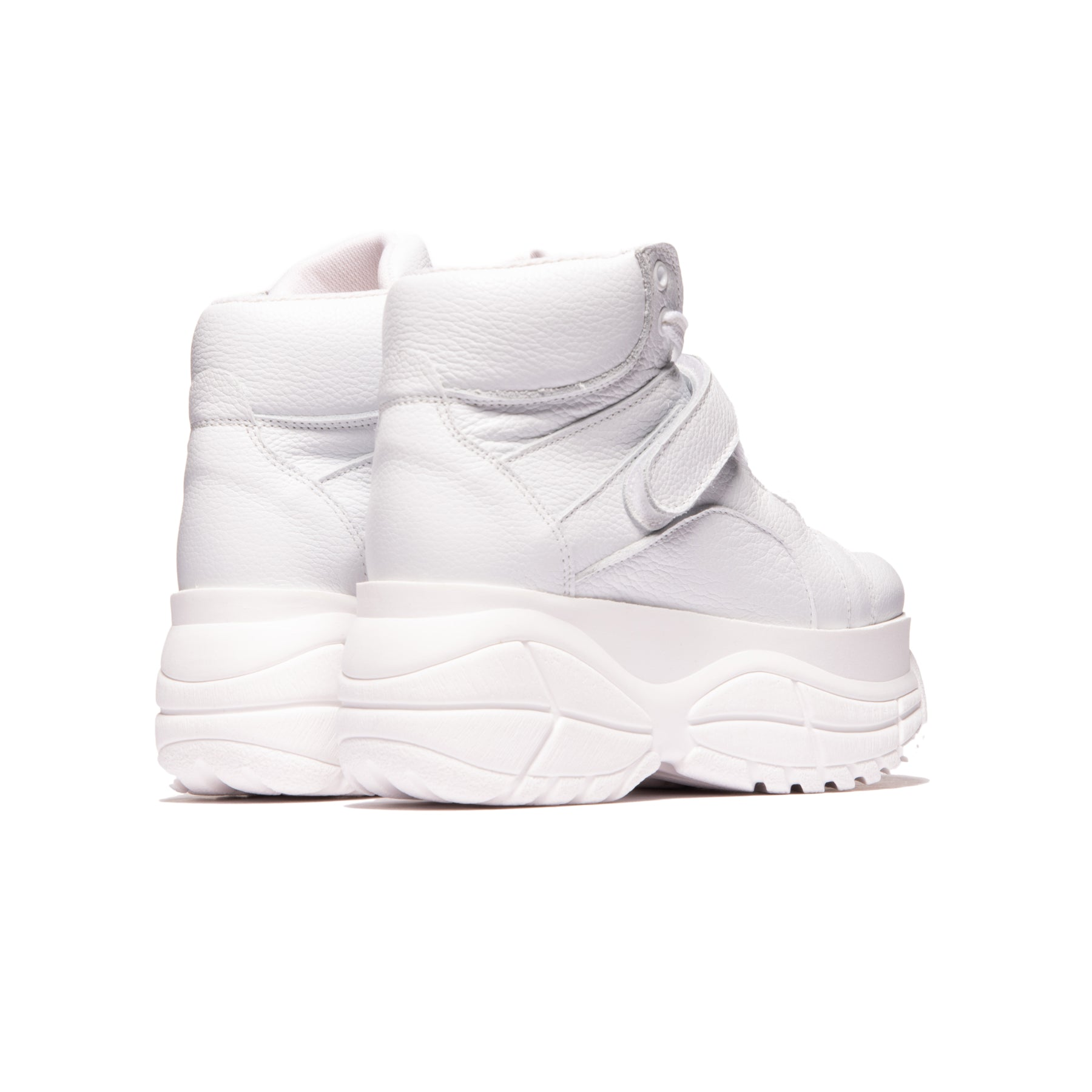 Lander White Leather