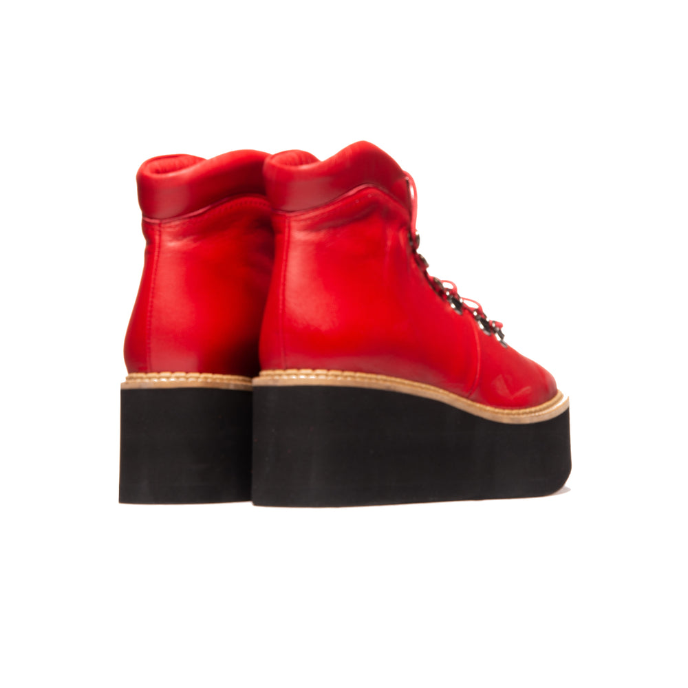 Delfina Red Leather