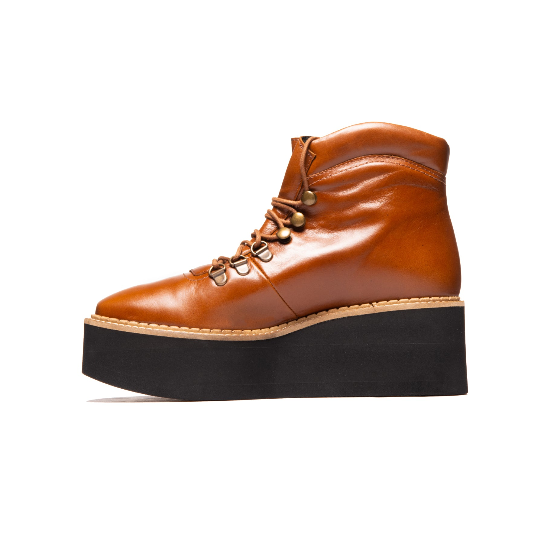 Delfina Tan Leather