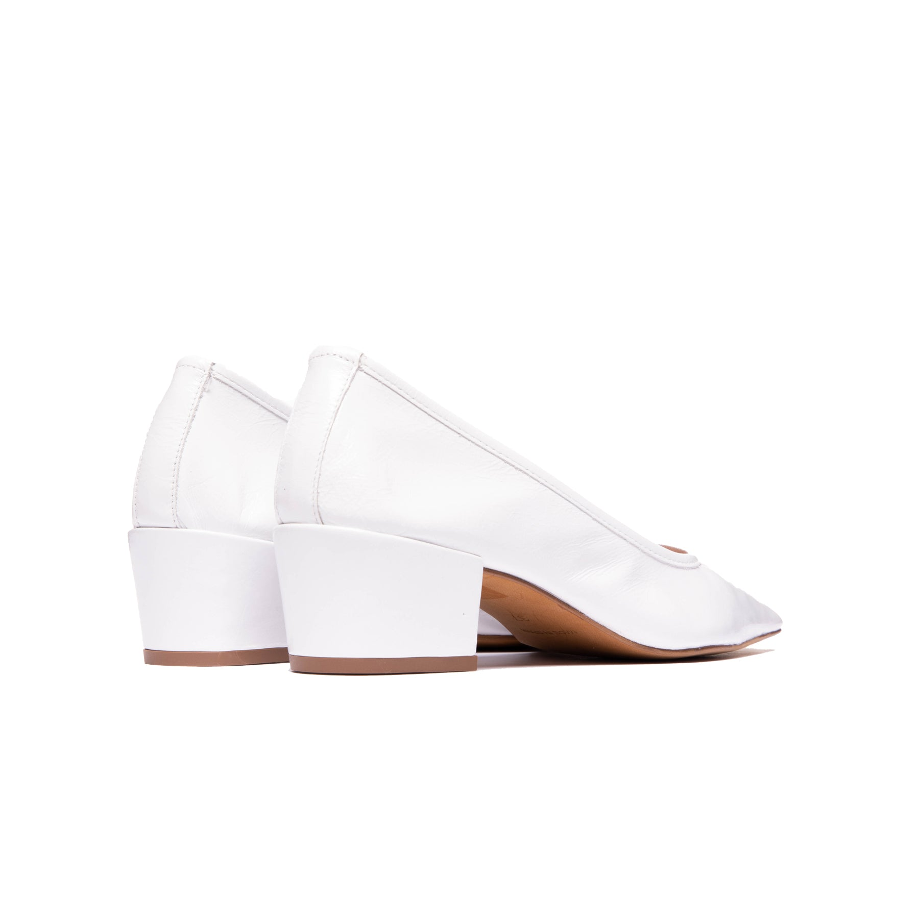 Alya White Leather
