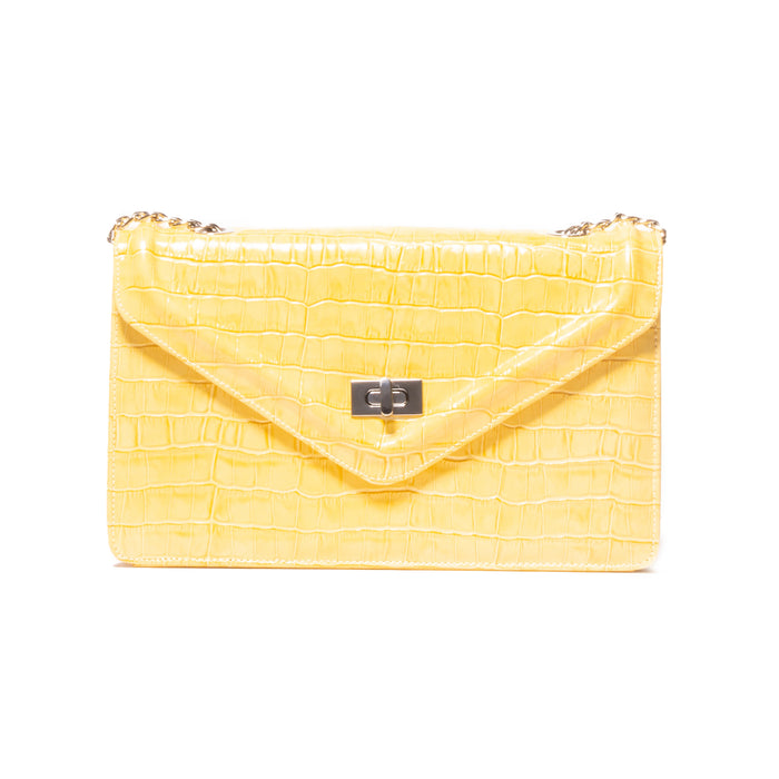 Amandine Yellow Croco
