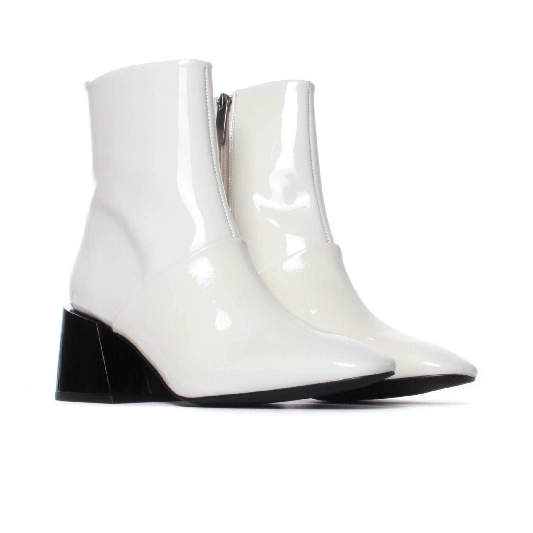 Moresby White Patent Leather-SOLD OUT