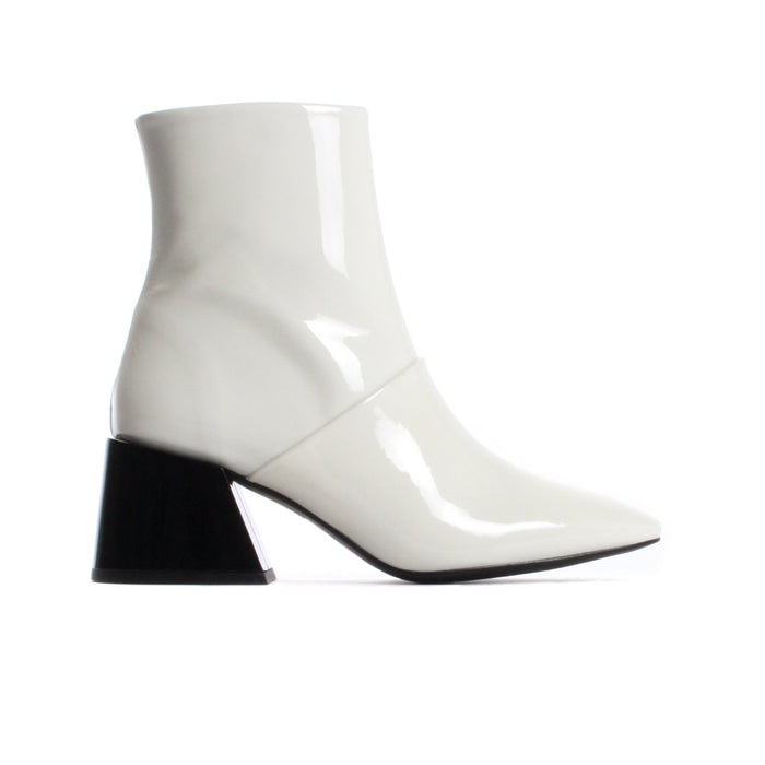 Moresby White Patent Leather