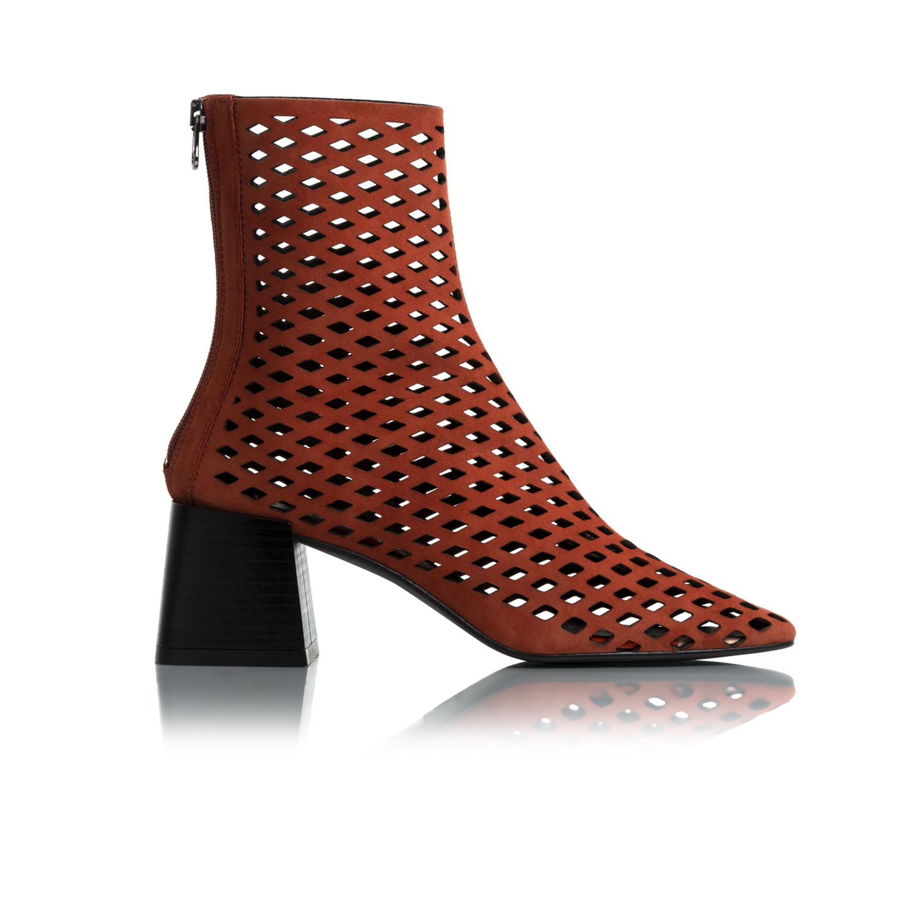 Charm Rust Suede Ankle Boots