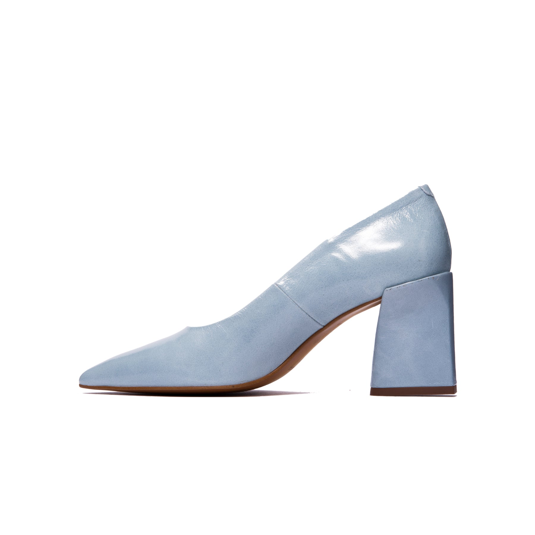 Clancy Light Blue Leather