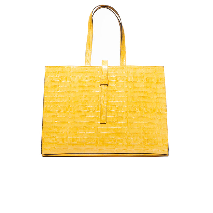Cocco Yellow Croco Bags