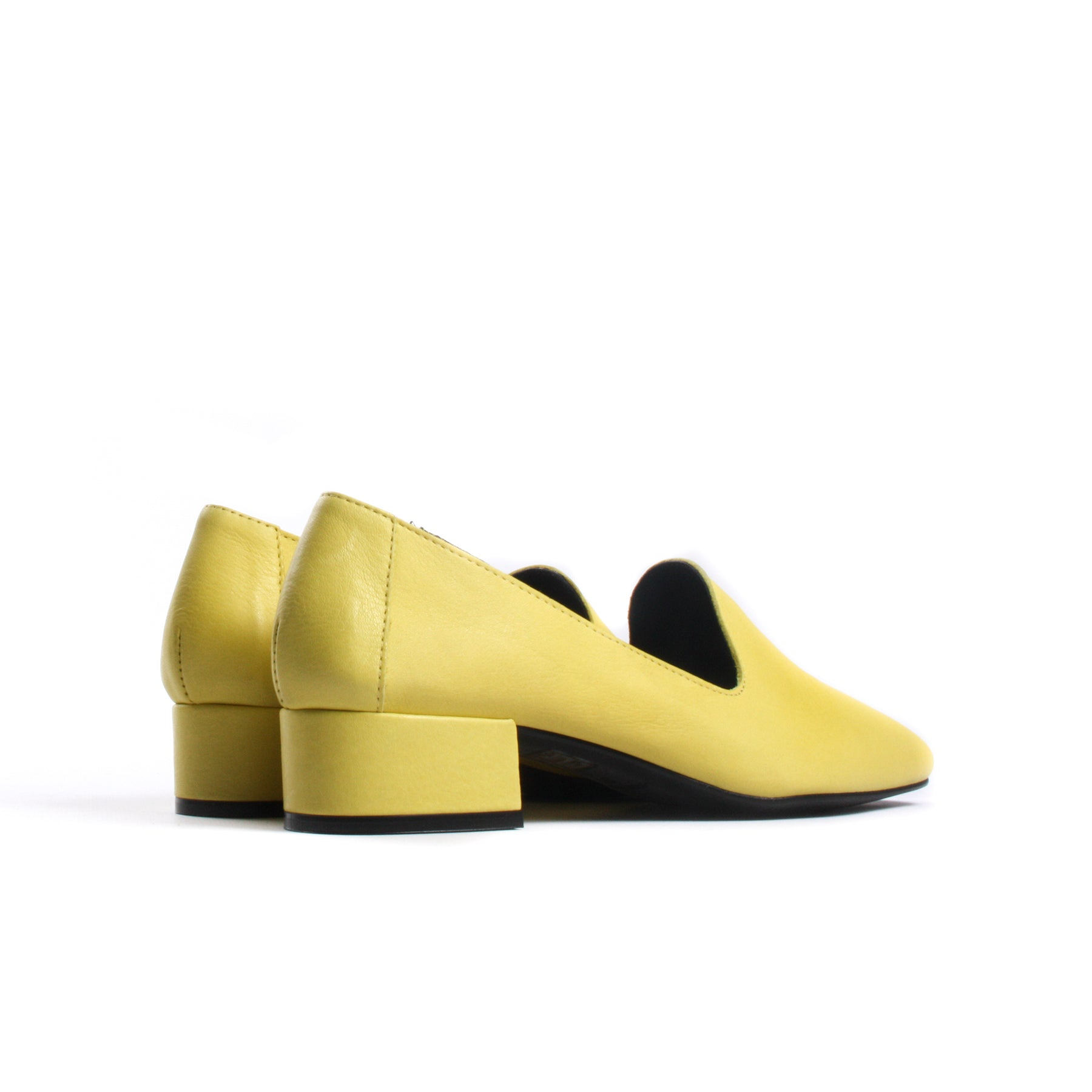 Daria Yellow Leather