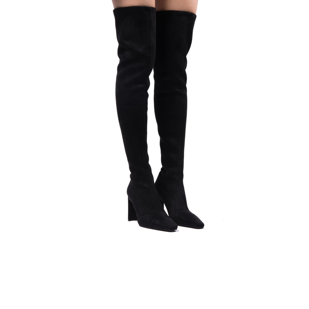 Load image into Gallery viewer, Hania Black Stretch Suede