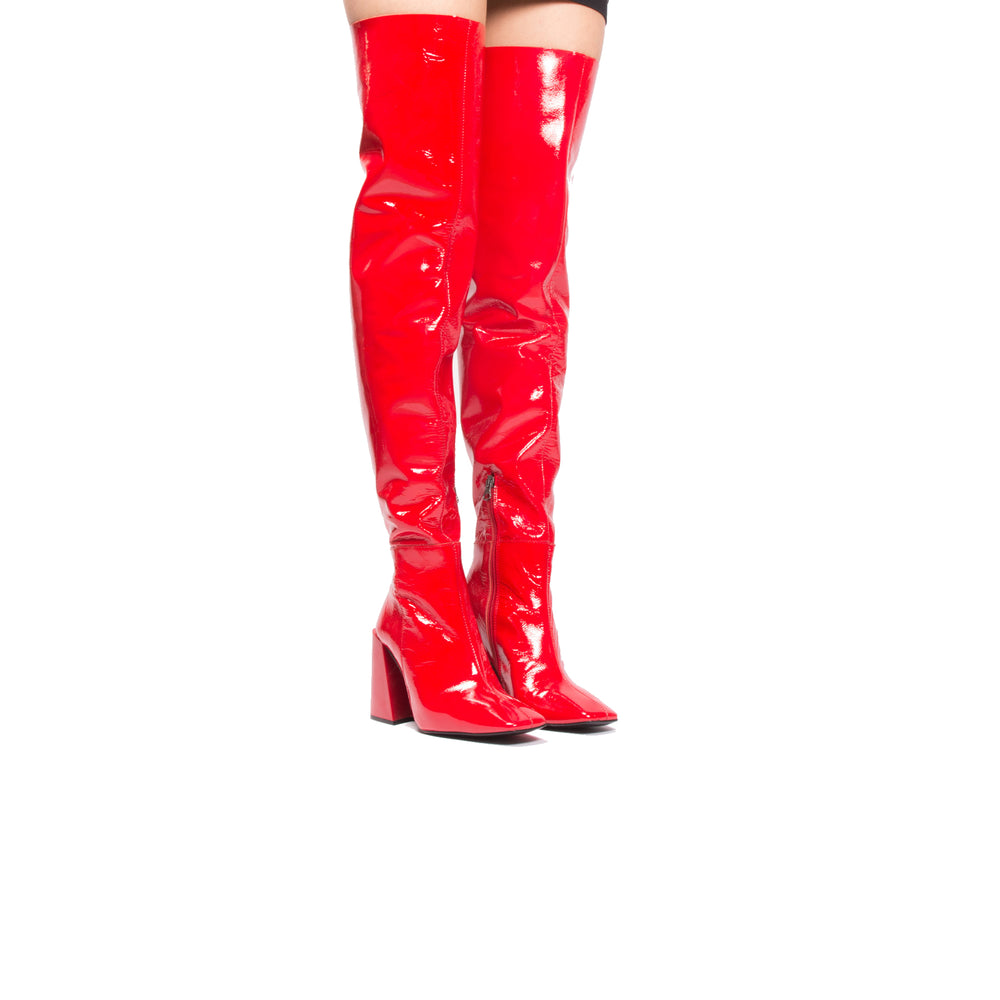 Dolly Red Naplack Leather