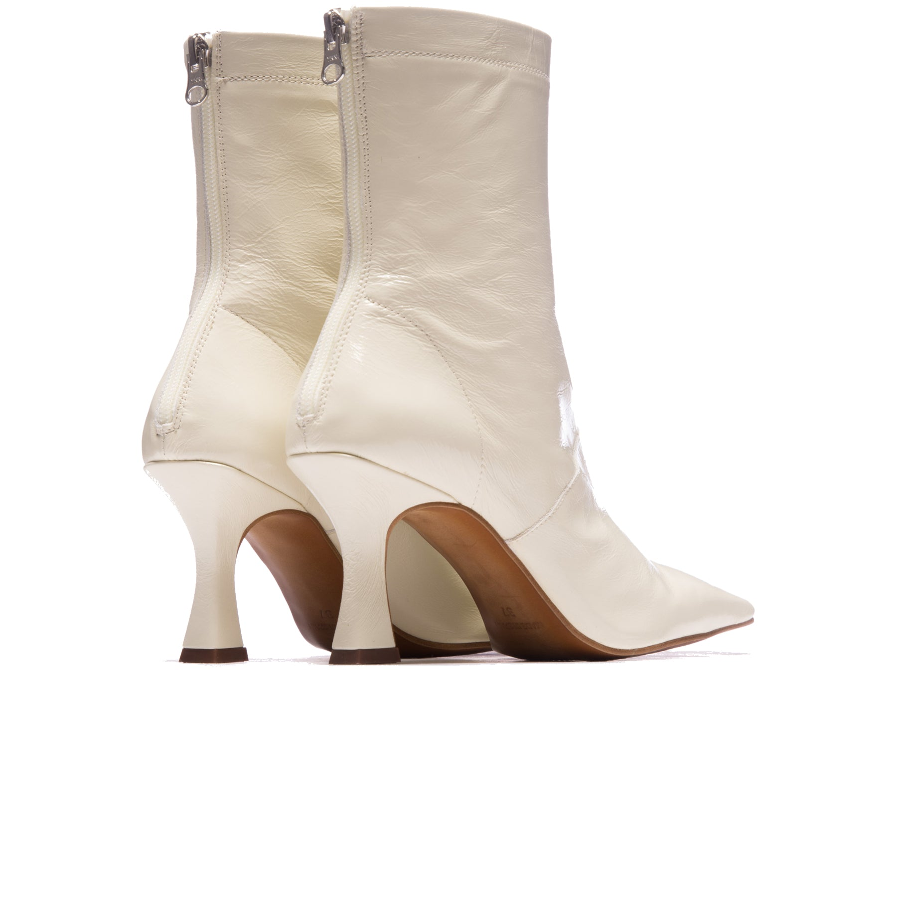 Ansley White Leather